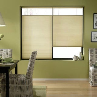 Ivory Beige 71 to 71.5-inches Wide Cordless Top Down Bottom Up Cellular Shades