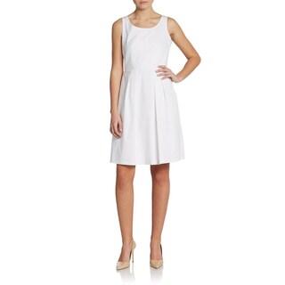Elie Tahari Becca White Sleeveless Dress (Size 12)