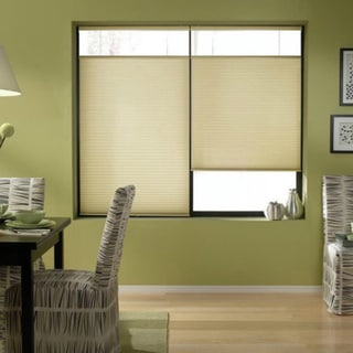 Ivory Beige 69 to 69.5-inches Wide Cordless Top Down Bottom Up Cellular Shades