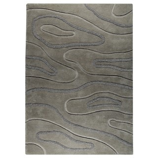 M.A.Trading Hand-Tufted Indo Agra Grey Rug (4'6 x 6'6)