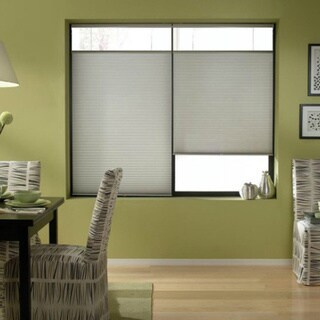 Silver 68 to 68.5-inches Wide Cordless Top Down Bottom Up Cellular Shades
