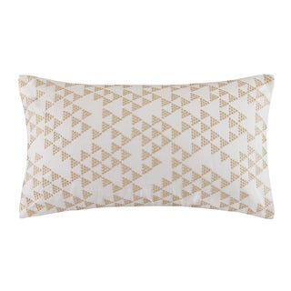 INK+IVY Thea Embroidered Cotton Decorative Pillow