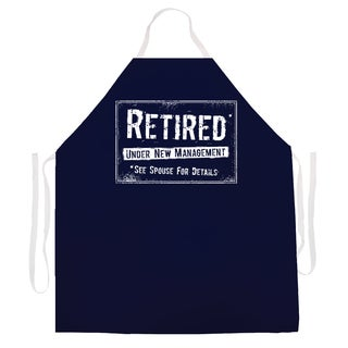 Attitude Aprons 'Retired New Mangement' Apron