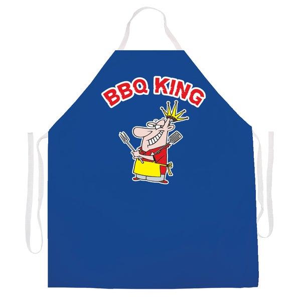 BBQ King' BBQ Grill Apron-Blue