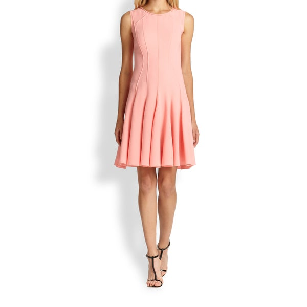 Elie Tahari Patti Crepe Pink Dress