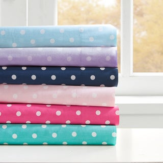 Mi Zone Polka Dot Cotton Sheet Set--4 Color Options
