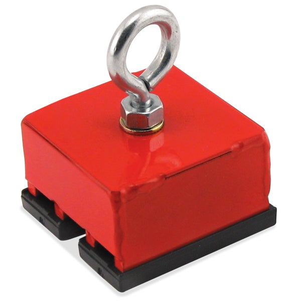 Master Magnetics 07541 Red Heavy Duty Magnetic Hold & Retrieving Base