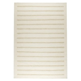 M.A.Trading Hand-knotted Indo Chicago White Rug (3' x 5'4)