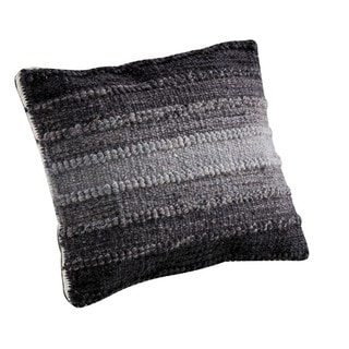 M.A.Trading Hand-woven Indo Ignazio Grey Pillow (24-inch x 24-inch)