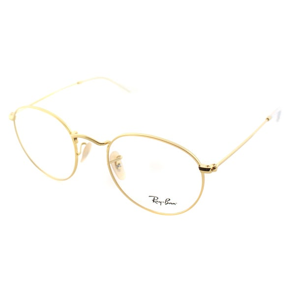 Ray-Ban RX 3447V 2730 Round Matte Gold Metal Eyeglasses 47mm