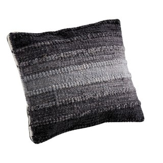 M.A.Trading Hand-woven Indo Ignazio Grey Pillow (18-inch x 18-inch)