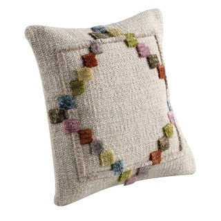 M.A.Trading Hand-woven Indo Benita Soft/ Multi Pillow (16-inch x 16-inch)