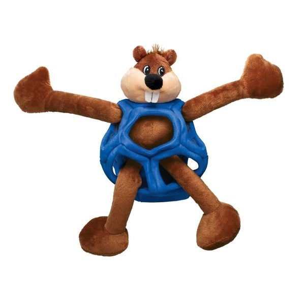 Kong Puzzlement Blue/Brown Plush Dog Toy And Puzzle