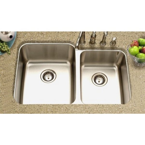 Houzer Gourmet Undermount Steel MES-3221 Stainless Steel Kitchen Sink