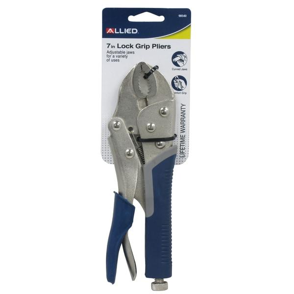 "Allied International 90540 7"" Lock Grip Pliers With Cutter"