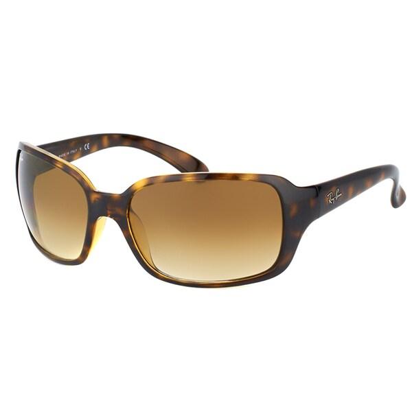 Ray-Ban RB 4068 710/51 Light Havana Plastic Fashion Sunglasses Brown Gradient Lens