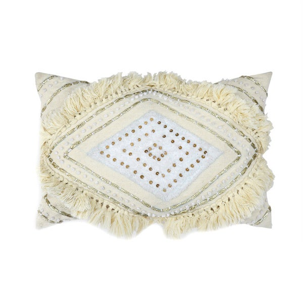 Isla Cream Lace Accent Pillow