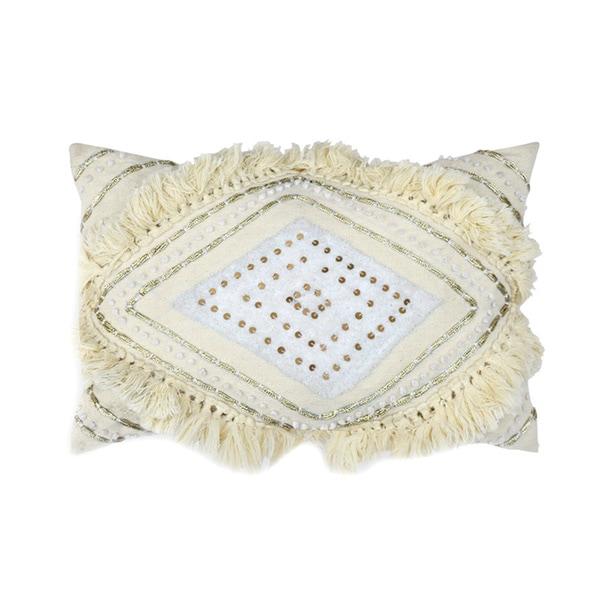 Isla Cream Lace Accent Pillow