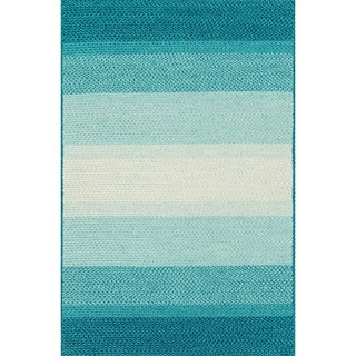 Indoor/ Outdoor Braided Blue Rug (7'9 x 9'9)