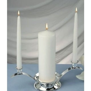 White Unity Candles Set of 3 , 1 Pillar 3 inches X 9 inches , and 2 Taper Candles 10 inches