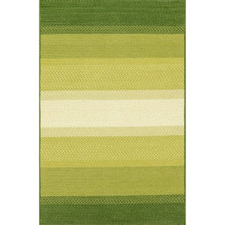 Indoor/ Outdoor Braided Green Rug (2'3 x 3'9)