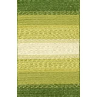 Indoor/ Outdoor Braided Green Rug (7'9 x 9'9)