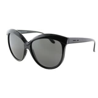 Italia Independent IT 0092 I-Plastik 009_GLS Black Gloss Plastic Butterfly Sunglasses Grey Lens