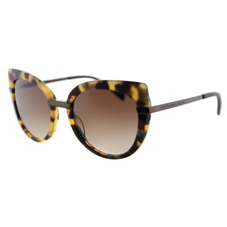 Marc by Marc Jacobs MMJ 489 LQW Spotted Havana Plastic Cat-Eye Sunglasses Brown Gradient Lens