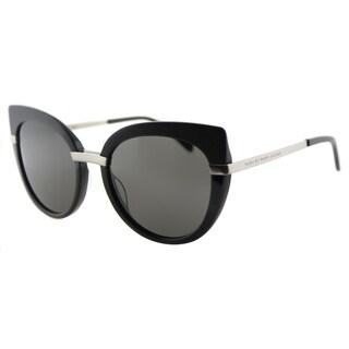 Marc by Marc Jacobs MMJ 489 RHP Black Plastic Cat-Eye Sunglasses Grey Gradient Lens