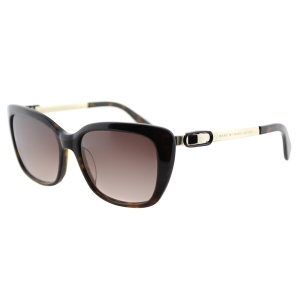 Marc by Marc Jacobs MMJ 493 ANT Dark Havana Plastic Cat-Eye Sunglasses Brown Gradient Lens