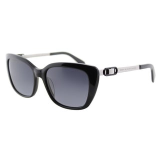 Marc by Marc Jacobs MMJ 493 284 Black Plastic Cat-Eye Sunglasses Grey Gradient Lens