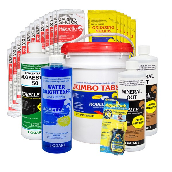 Robelle Chemical Maintenance Kit With 35 lb. Jumbo Tabs