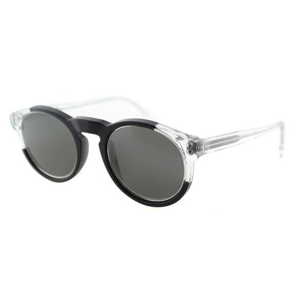 Super UL1 Decode Black And Clear Round Plastic Sunglasses