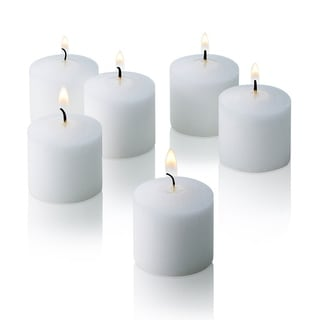 White Jasmine Scented Votive Candles Set of 72 Burn 10 Hours