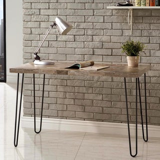 Schevron Mid Century Industrial Rustic Design Home Office Computer/ Writing Desk