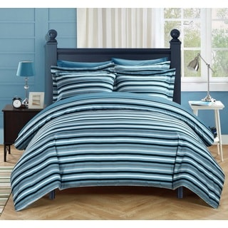 Chic Home Vasler Blue 9-Piece Duvet Cover Bed in a Bag with Sheet Set