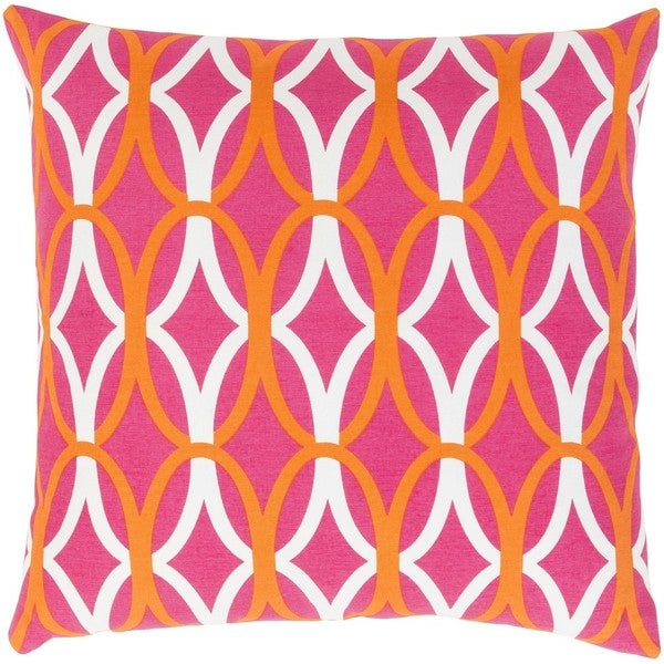 Decorative Gage 18-inch Down or Poly Filled Throw Pillow