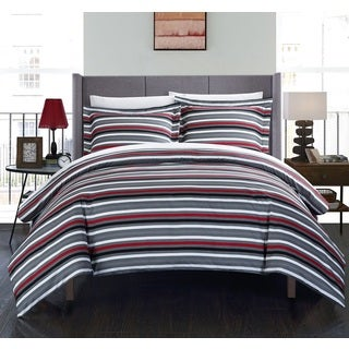 Chic Home Vasler Grey 9-piece Bed in a Bag Duvet Cover with Sheet Set