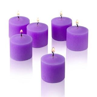 10 Hour Lavender Unscented Votive Candles Set of 36