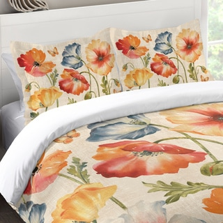 Laural Home Colorful Poppies Standard Pillow Sham