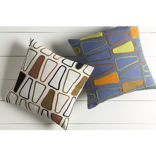 Decorative Cleo 20-inch Down or Poly Filled Throw Pillow