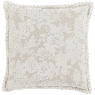 Decorative Charleigh 20-inch Down or Poly Filled Throw Pillow