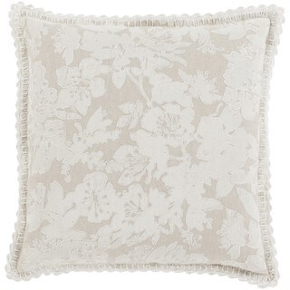 Decorative Charleigh 18-inch Down or Poly Filled Throw Pillow