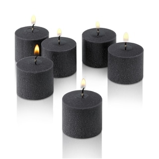 Black Unscented Votive Candles Set of 12 Burn 10 Hours