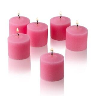 Soft Pink Unscented Votive Candles Set of 12 Burn 10 Hours