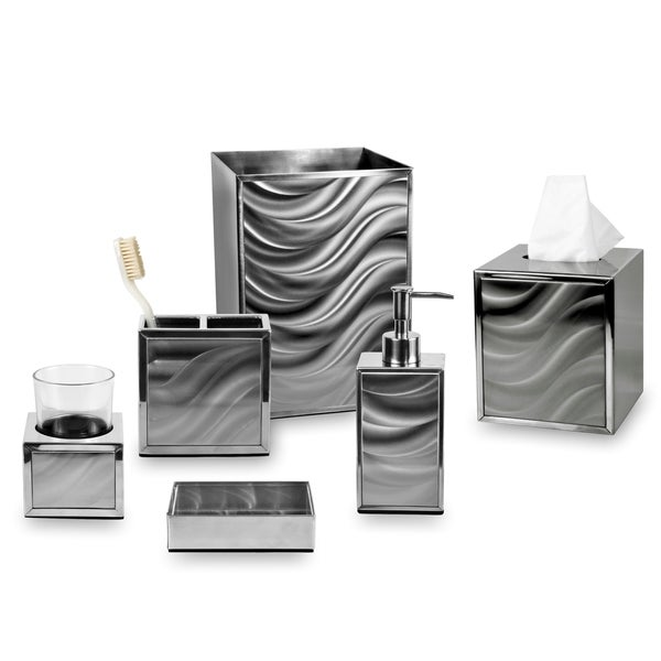 Moire Silver Bath Collection