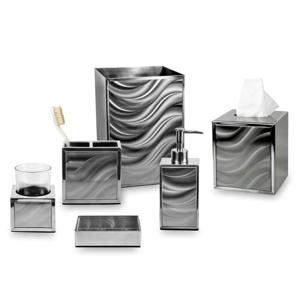 Moire Silver Bath Collection