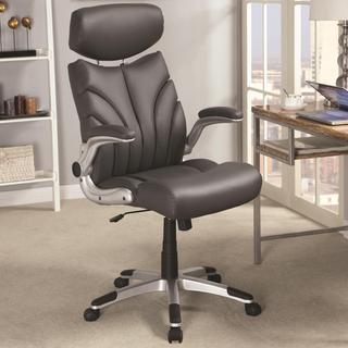 Mercado Contemporary Sleek Design Grey Executive Office Chair with Head Rest