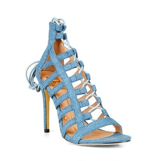 Fahrenheit Common-23 Lace-up Women's High Heel Sandals