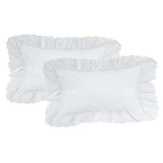 Rectangle Eyelet Pillow (Set of 2)